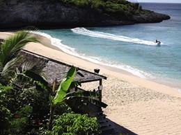 La plage de Baie Longue de l'hôtel Belmond La Samanna