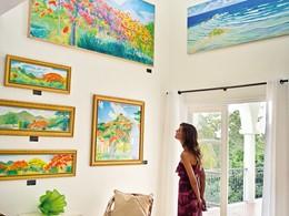 La galerie d'art de l'hôtel Belmond La Samanna