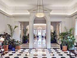 Le lobby du Belmond Reid's Palace situé sur l'île de Madère