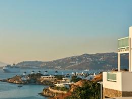 Splendide vue sur la ville de Mykonos