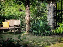 Jardin de l'hôtel Bougainvillea Retreat au Sri Lanka