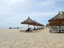 La plage Cua Dai de l'hôtel Boutique Hoi An Resort au Vietnam