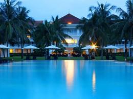 Autre vue de la piscine de l'hôtel Boutique Hoi An Resort au Vietnam