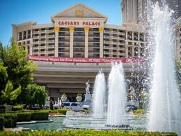 L'entrée de l'hôtel Caesar's Palace aux Etats Unis