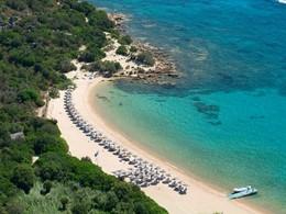 La plage du Cala di Volpe situé en Italie