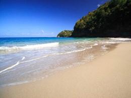 La superbe plage de l'hôtel Cap Maison aux Antilles