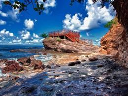 Le Cap Maison est situé au bord de la mer des Caraïbes