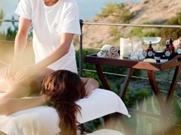 Massage au spa de l'hôtel Cap Rocat aux Baléares