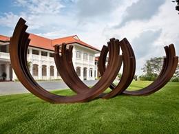 Vue du Capella Singapour, un hôtel au style colonial