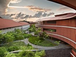 Le magnifique jardin verdoyant du Capella Singapour