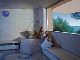 Le hammam de l'hôtel 5 étoiles Capo d'Orso en Sardaigne