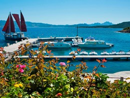 Le ponton de l'hôtel Capo d'Orso Thalasso & Spa