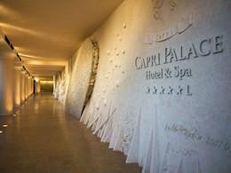 L'entrée de l'hôtel Capri Palace en Italie