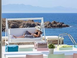 Vue magnifique sur la mer Égée