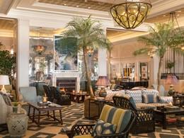 Le lobby de l'hôtel Casa Del Mare situé aux Etats Unis
