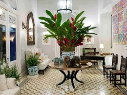 Le lobby de l'hôtel Casas del XVI