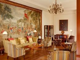 Le lounge George Sand du Castillo Hotel à Majorque