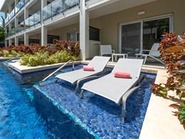 Des chambres équipées de piscines, idéale pour se rafraichir à tout moment
