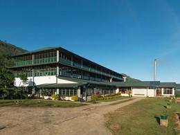 Vue de l'usine de thé Dunkeld à Nuwara Eliya