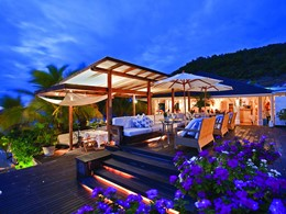 Restaurant de l'hôtel de luxe Cheval Blanc Isle de France