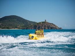 Activité nautique du Chia Laguna Resort en Sardaigne