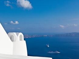 Une vue à couper le souffle à l'hôtel Chromata Santorin