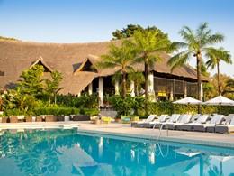 La piscine du Club Med Cap Skirring, situé au sud du Sénégal