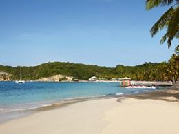 La plage du Club Med, l'une des plus belles des Caraïbes