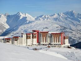 Vue du Club Med La Plagne 2100, un hôtel haut de gamme
