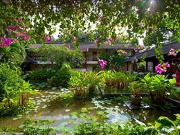 Le magnifique jardin verdoyant du Club Med Phuket