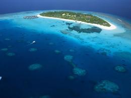 Vue aérienne du Coco Palm Dhuni Kolhu