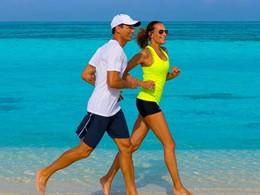Jogging sur la plage