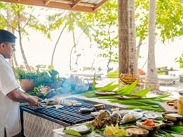Barbecue sur l'île privée de Lavadhoo