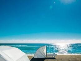 La plage de l'hôtel Como Metropolitan, à Miami