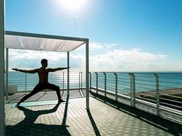 Profitez d'un cadre magnifique pour une session de yoga