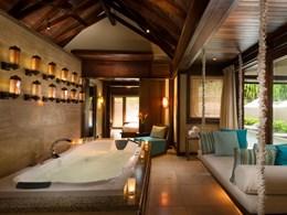 La salle de bain de la Family Villa