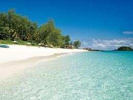 La plage de l'hôtel Constance Tsarabanjina à Madagascar