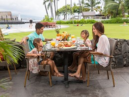 Petit déjeuner en famille au King Kamehameha's Kona