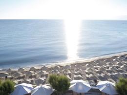 La superbe plage de l'hôtel