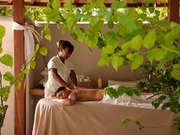 Profitez d'un massage dans le Beachfront Spa Cottage
