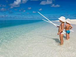 Pêche pour les petits au Denis Private Island aux Seychelles