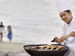 Barbecue sur la plage du Desert Islands Resort by Anantara