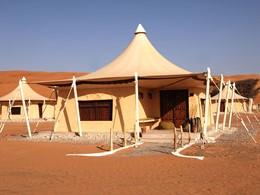Vue du Desert Night Camp situé au sultanat d'Oman