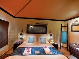 Autre vue de la Deluxe Tented Suite du Desert Night Camp situé au sultanat d'Oman