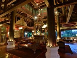 Le lobby du spa du Dhara Dhevi à Chiang Mai