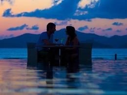 Dîner romantique dans un cadre idyllique