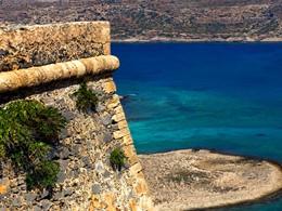 Le Chateau de Gramvoussa en Crete non loin du Domes Noruz