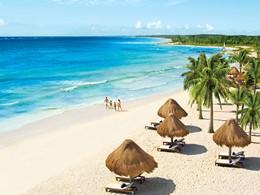 La plage de l'hôtel Dreams Tulum au Mexique