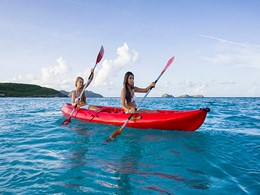 Activité nautique de l'Eden Rock aux Antilles