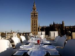 Le restaurant Panoramic La Terraza du EME Catedral